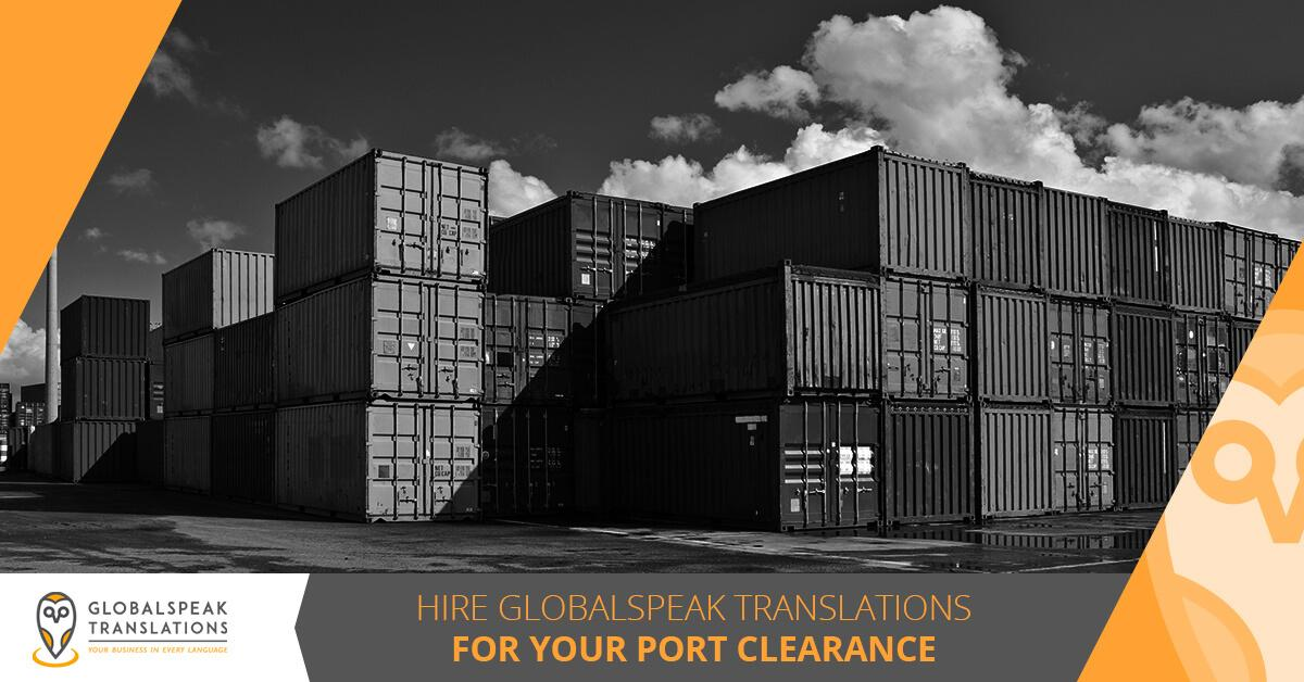 Port Clearance translation services